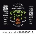 original hand drawn typeface...   Shutterstock .eps vector #1018888012