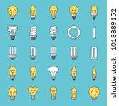 set of simple type of light... | Shutterstock .eps vector #1018889152