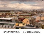 the roof top with beautiful... | Shutterstock . vector #1018893502