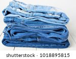 Jeans On A Light Background....