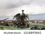 the roof top with beautiful... | Shutterstock . vector #1018895842
