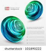 abstract sphere background. | Shutterstock .eps vector #101890222