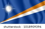 flag of marshall islands.... | Shutterstock .eps vector #1018909396
