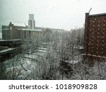 Photo of the Georgia Tech buildings, Atlanta, GA, USA during the snow storm in December, 2017