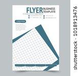 a4 size flyer template.... | Shutterstock .eps vector #1018913476