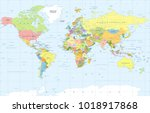 political physical topographic... | Shutterstock .eps vector #1018917868