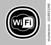 wifi sign black  wireless icon | Shutterstock .eps vector #1018921348