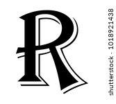 letter r black   Shutterstock .eps vector #1018921438