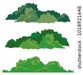 set of bushes landscape... | Shutterstock .eps vector #1018921648