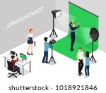 movie set  photoshoot with... | Shutterstock .eps vector #1018921846