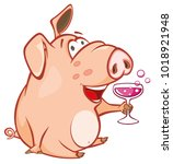 vector illustration of a cute... | Shutterstock .eps vector #1018921948