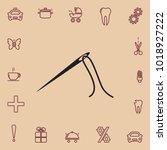 needle icon  vector design... | Shutterstock .eps vector #1018927222
