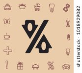 percent up and down  vector icon | Shutterstock .eps vector #1018929082
