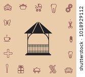 bower icon  vector design... | Shutterstock .eps vector #1018929112