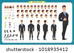 people character business set.... | Shutterstock .eps vector #1018935412