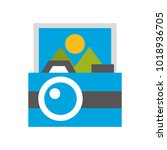 camera photographic with picture | Shutterstock .eps vector #1018936705