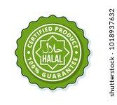 halal label illustration   Shutterstock .eps vector #1018937632