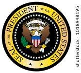 a presidential seal design...   Shutterstock .eps vector #1018948195