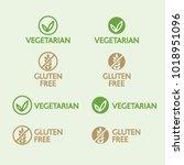 vector vegetarian and gluten... | Shutterstock .eps vector #1018951096