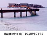 bungalows on a sea | Shutterstock . vector #1018957696