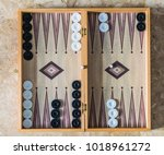 close up of a backgammon board... | Shutterstock . vector #1018961272