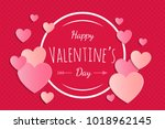 design of card with paper cut... | Shutterstock .eps vector #1018962145
