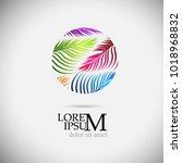 logo palm leaf. vector | Shutterstock .eps vector #1018968832