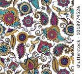 elegant paisley seamless...   Shutterstock .eps vector #1018974526