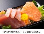 japanese assorted sashimi | Shutterstock . vector #1018978552