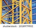 construction of high rise... | Shutterstock . vector #1018979902