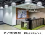 blurred background office... | Shutterstock . vector #1018981738