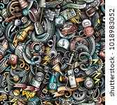 cartoon cute doodles automotive ... | Shutterstock .eps vector #1018983052