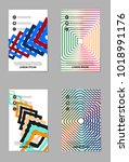 abstract vector business... | Shutterstock .eps vector #1018991176
