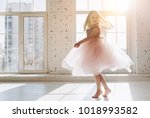 cute little girl in beautiful... | Shutterstock . vector #1018993582