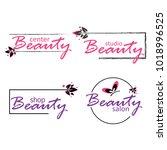 set of beauty industry. logos...   Shutterstock .eps vector #1018996525