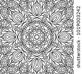 coloring book pages. mandala.... | Shutterstock .eps vector #1019003242