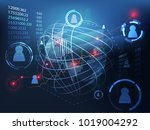 abstract technology ui... | Shutterstock .eps vector #1019004292