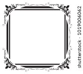 decorative frame and border for ... | Shutterstock .eps vector #1019006062