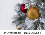 christmas tree decoration on... | Shutterstock . vector #1019006656