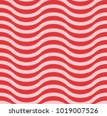 pink and red wavy chevron... | Shutterstock . vector #1019007526