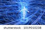 artificial intelligence figure... | Shutterstock . vector #1019010238