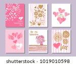 happy  valentine's day. set of... | Shutterstock .eps vector #1019010598