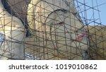 budddha statue being repaired ... | Shutterstock . vector #1019010862