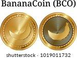 set of physical golden coin...   Shutterstock .eps vector #1019011732
