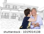 chinese senior adult couple... | Shutterstock . vector #1019014138