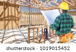 contractor with hard hat and... | Shutterstock . vector #1019015452