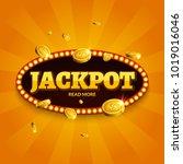 jackpot gambling retro banner... | Shutterstock .eps vector #1019016046