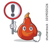 with sign red kuri squash... | Shutterstock .eps vector #1019020126