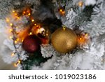 christmas tree decoration on... | Shutterstock . vector #1019023186