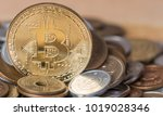 bitcoin replica with japanese... | Shutterstock . vector #1019028346